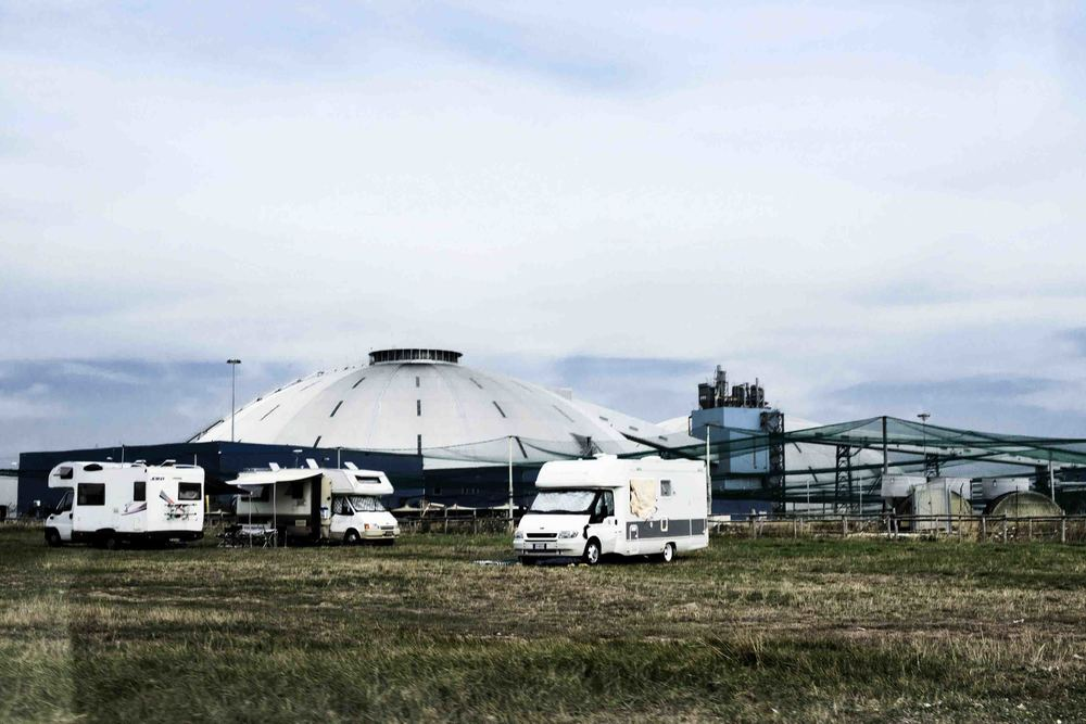 Nella Dome Home dell'Enel, in località La Frasca alle porte di Civitavecchia sono stanziate circa 40.000 tonnellate di carbone. Luglio, 2014. (David Pagliani Istivan)