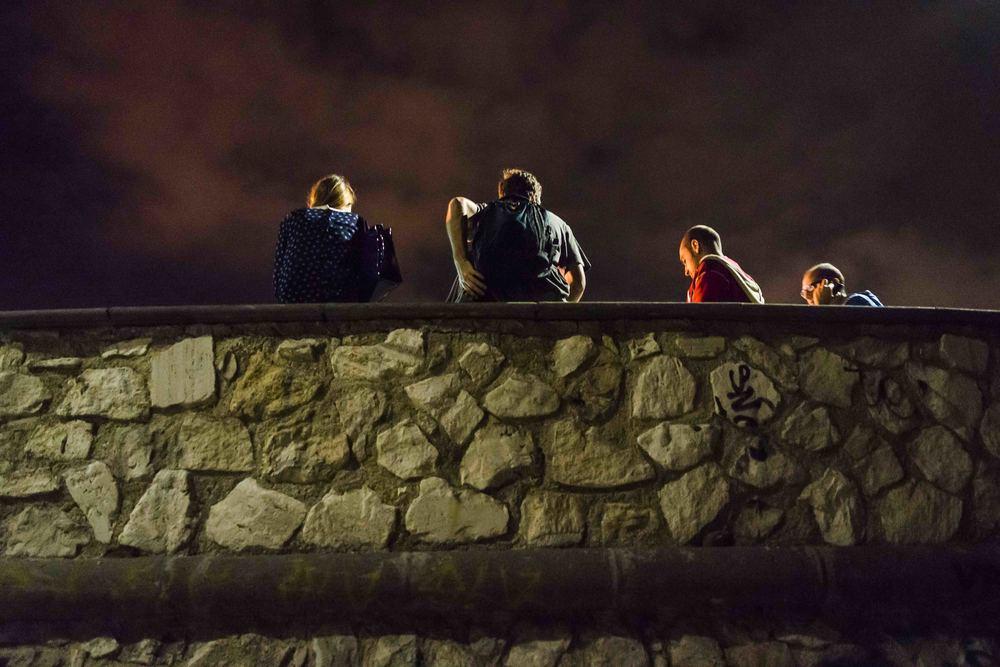 La terrazza sul mare del Pirgo sul lungomare della città è uno dei principali luoghi di ritrovo per i giovani di Civitavecchia. ottobre, 2014. (David Pagliani Istivan)
