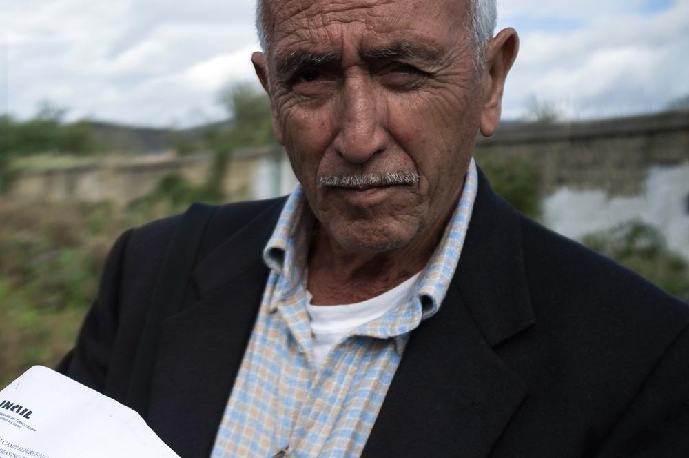Vittorio Errico, ammalato di asbestosi polmonare, ha lavorato per 28 anni all'Eternit respirando polveri d'amianto.