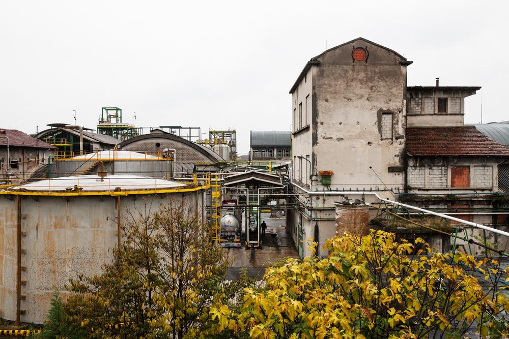 La struttura dello stabilimento Caffaro è attualmente occupata da un'azienda in attività che prevedere di chiudere entro pochi mesi, dati gli alti costi di mantenimento. Brescia / Italia. Ottobre 2013