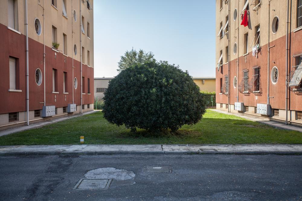 Le case popolari di proprietà della Caffaro. Brescia / Italia. Ottobre 2013