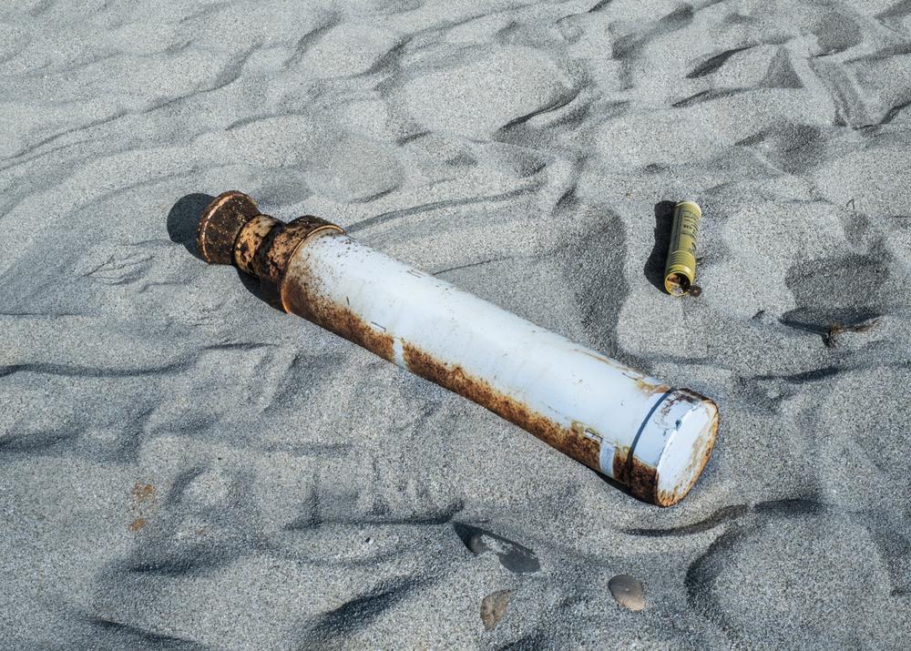 Booster, Spiaggia di Murtas, comune di Villaputzu, poligono a mare.