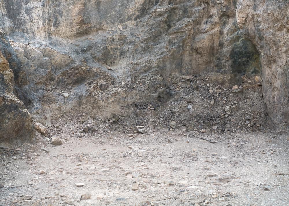 Particolare rocce, miniere di Baccu Locci, comune di Villaputzu, poligono a terra.