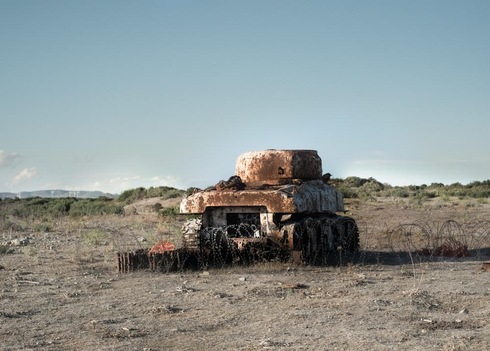 Carro armato, Area D, Monte Cardiga, comune di Perdasdefogu, poligono a terra.