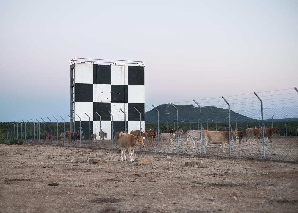 Recinto militare con bersaglio, area C, Monte Cardiga, comune di Villaputzu, poligono a terra.
