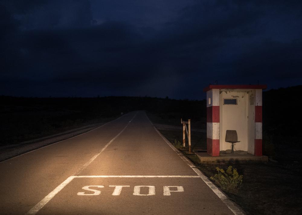 Guardiola nella strada militare, area A, Perda is Furonis, poligono a Terra.