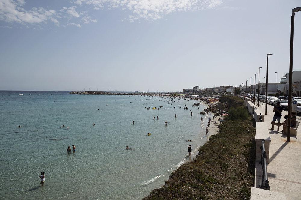 Spiaggia di San Foca. San Foca. Agosto 2017. © Giuseppe Laera