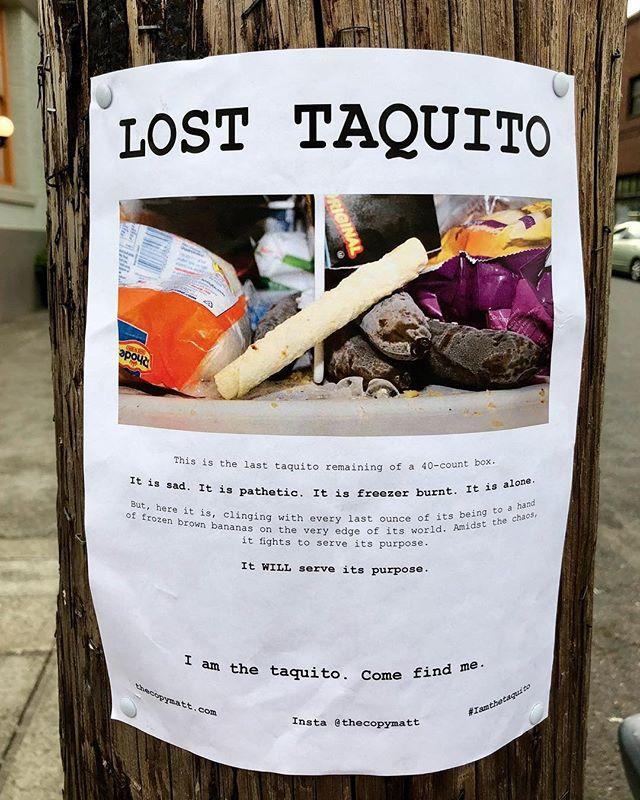Oh, Portland. 😂 #losttaquitos