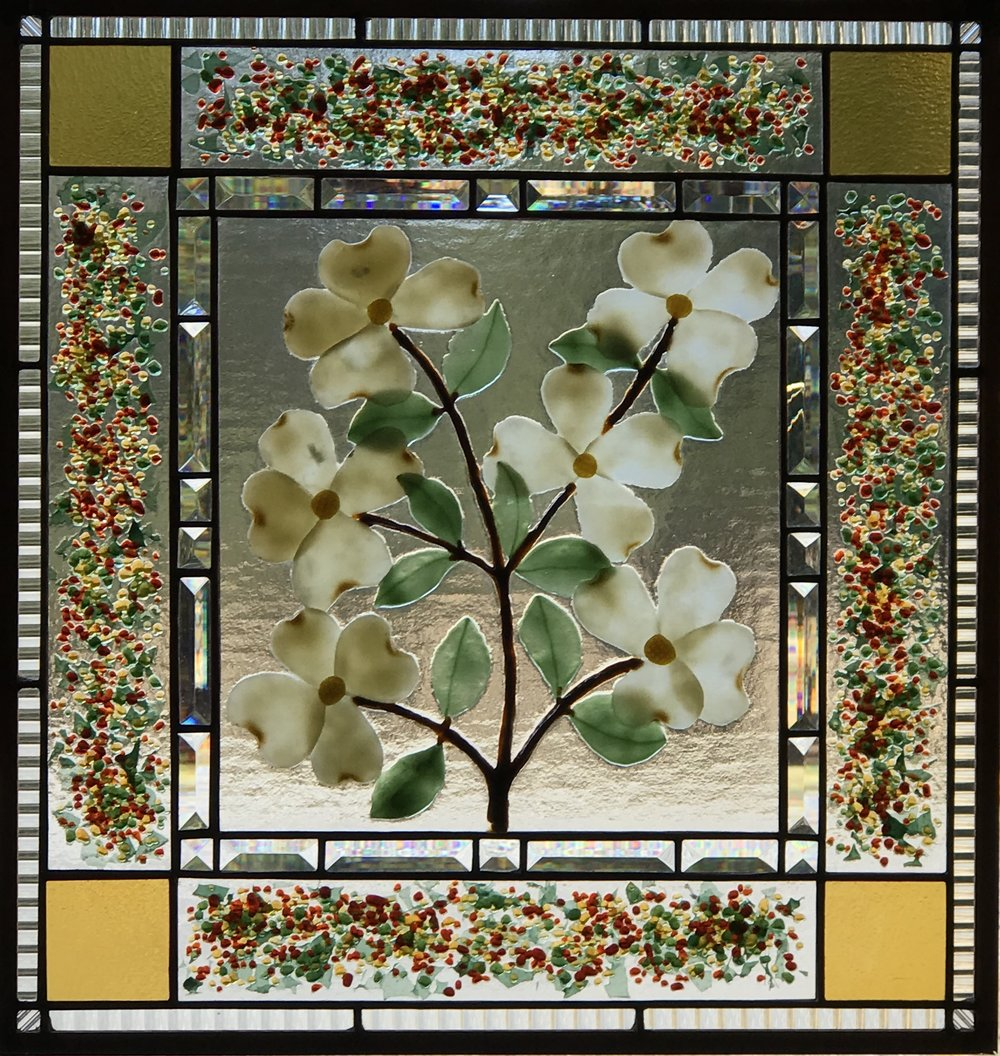 Dogwood with a confetti border