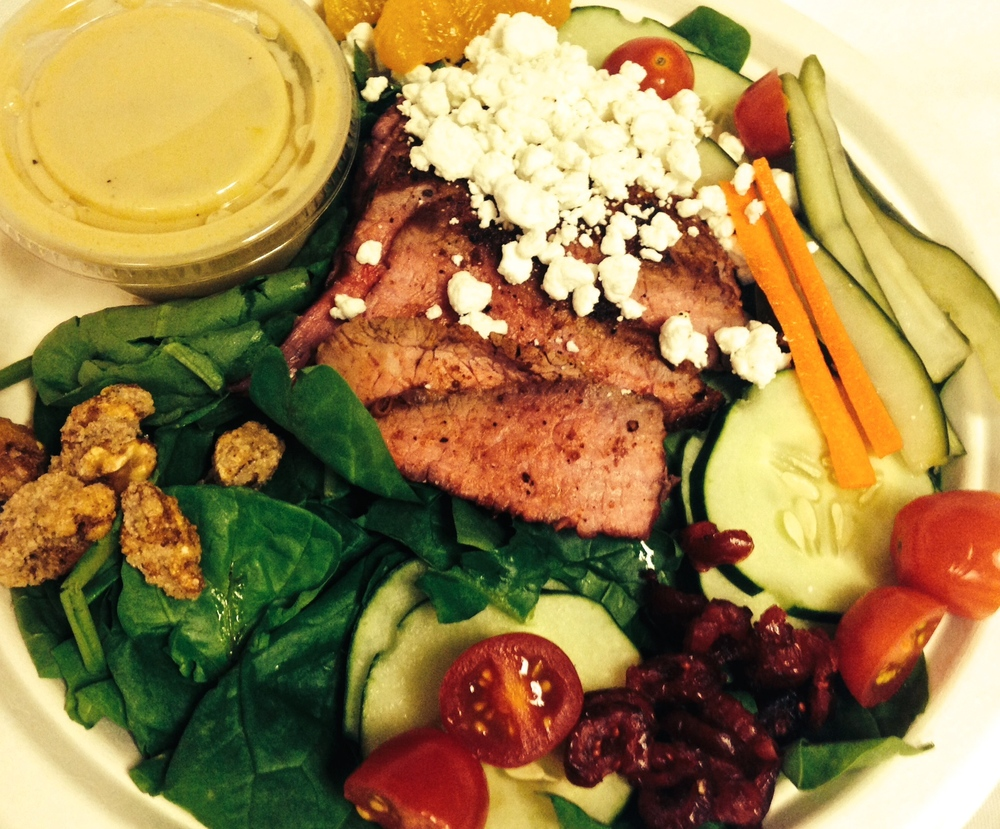 spinach steak salad