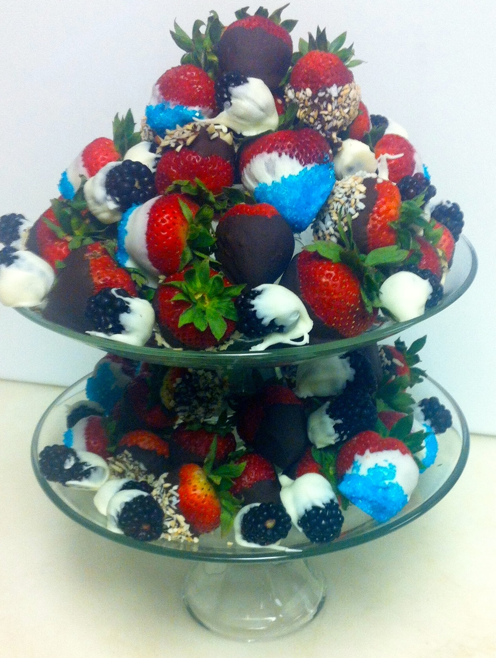 4th of July themed berry tray
