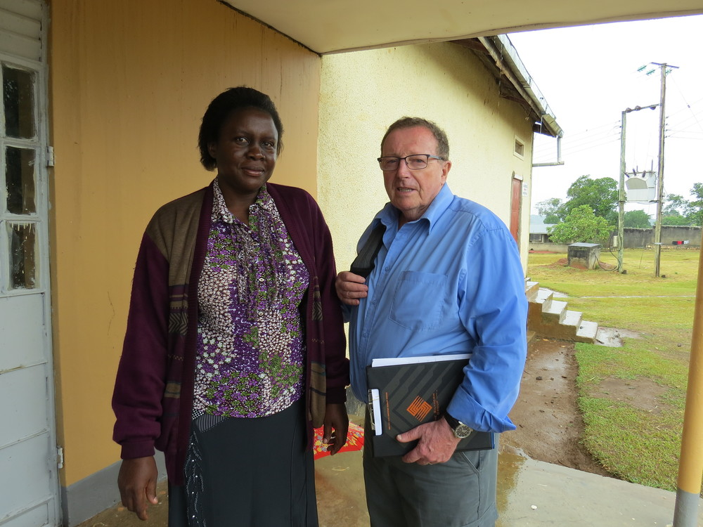 School principal with Classrooms for Africa representative