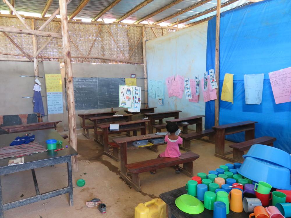 A temporary teaching area