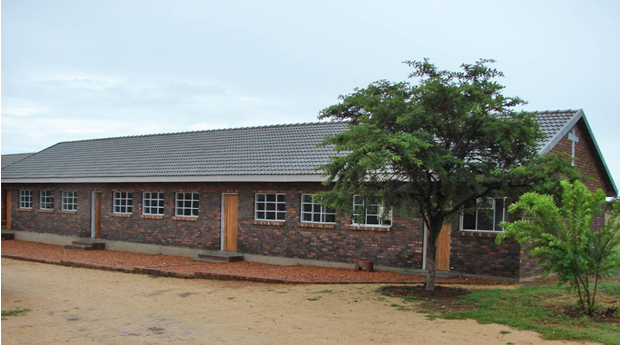 First classrooms block completed by Classrooms for Africa 2009