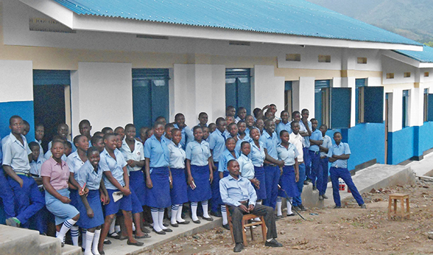 Classroom block completed at St. Jude High School, Kasese, Uganda
