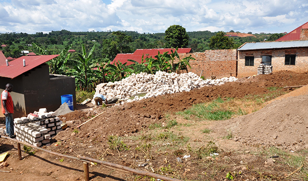Preparations for building at Broadway Nursery/Primary School, Masaka, Uganda