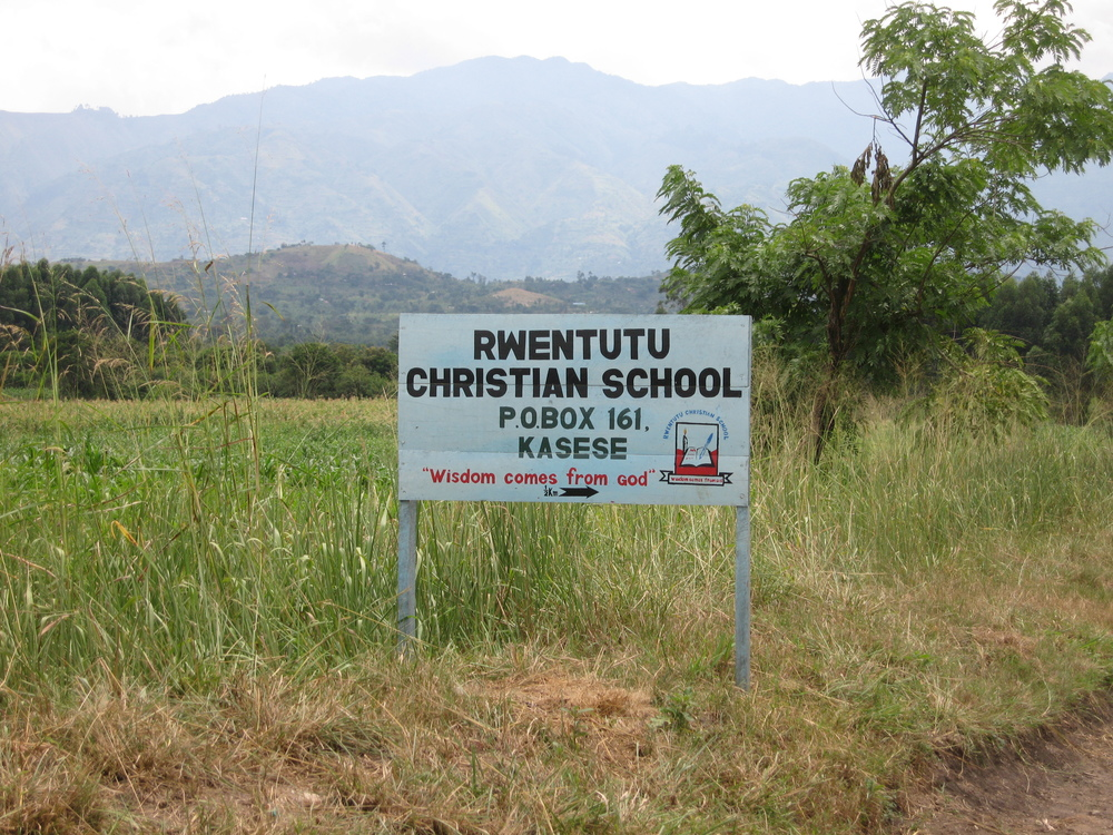 Rural school in foothills of Rwenzori Mountains
