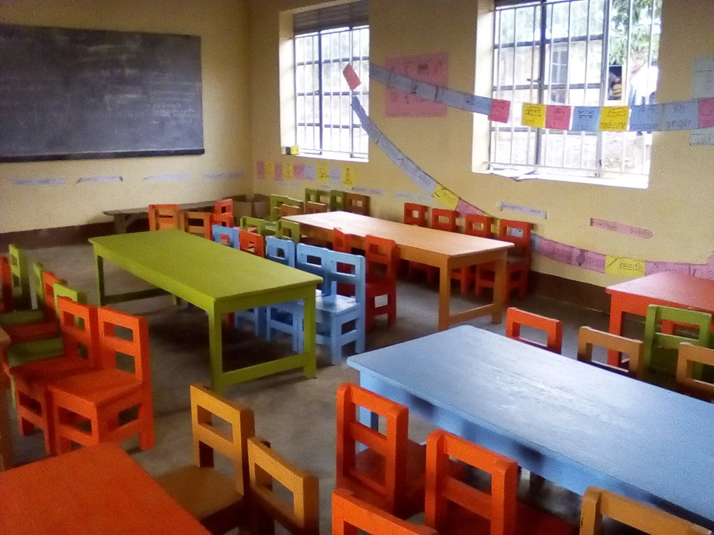 Tables and chairs for youngest students