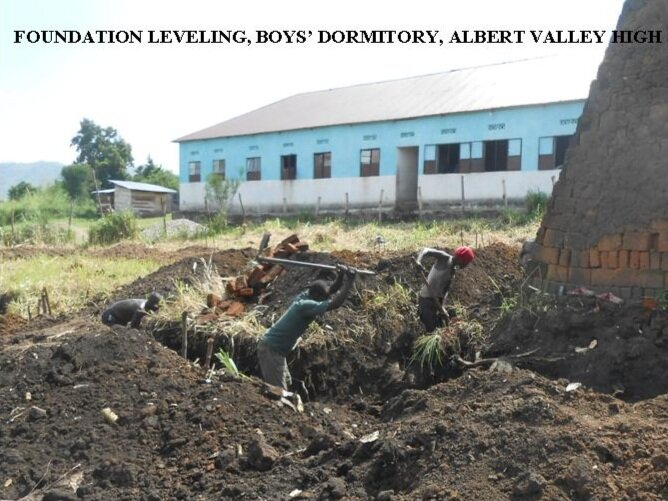 Boys' dormitory start of construction October 2018