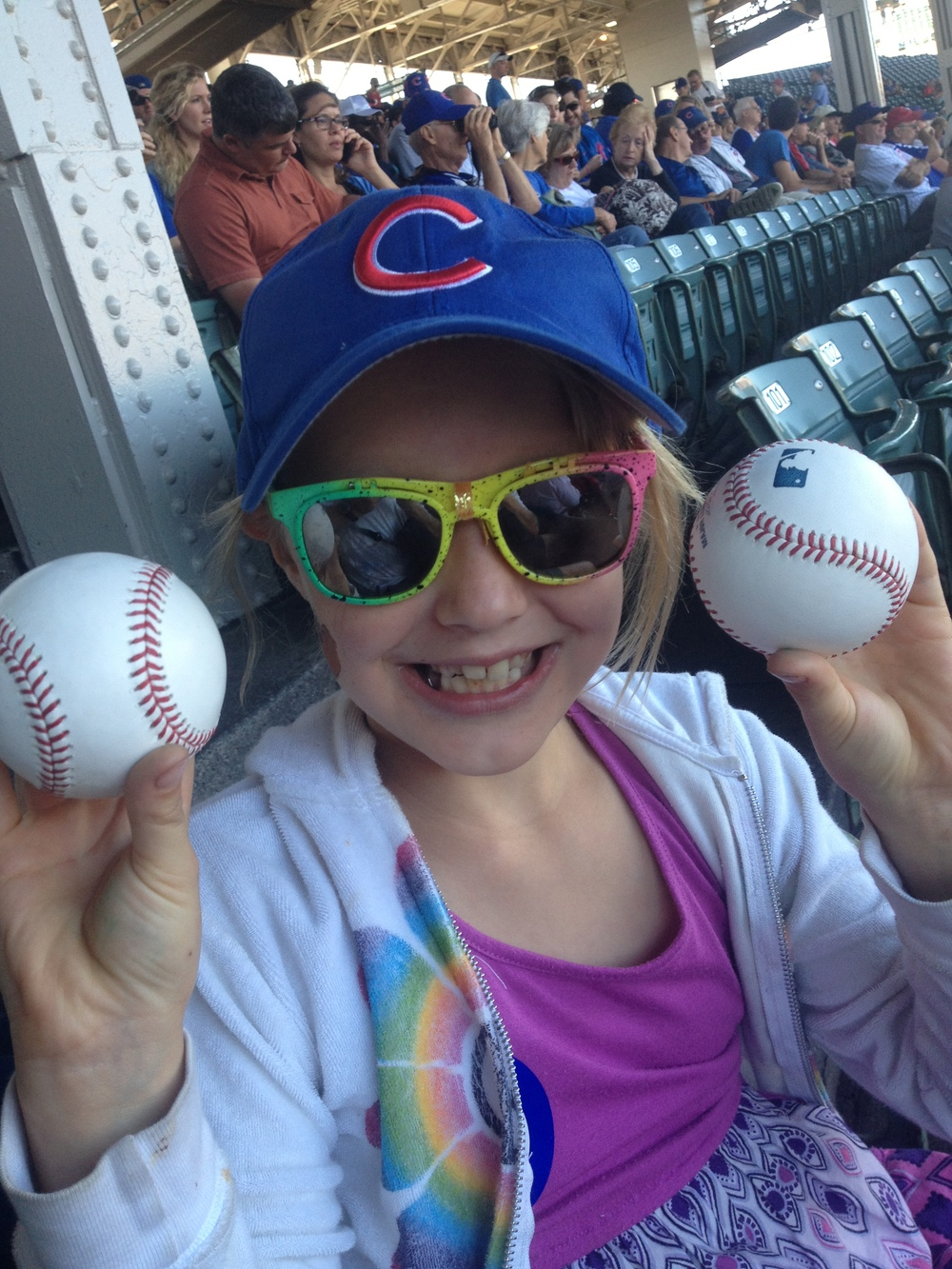 Alex the Girl Scout at the Cubs Game!