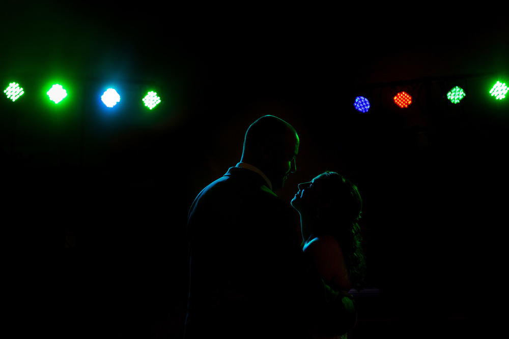 Bride and groom take their first dance at a wedding at Calabogie Peaks in Ontario