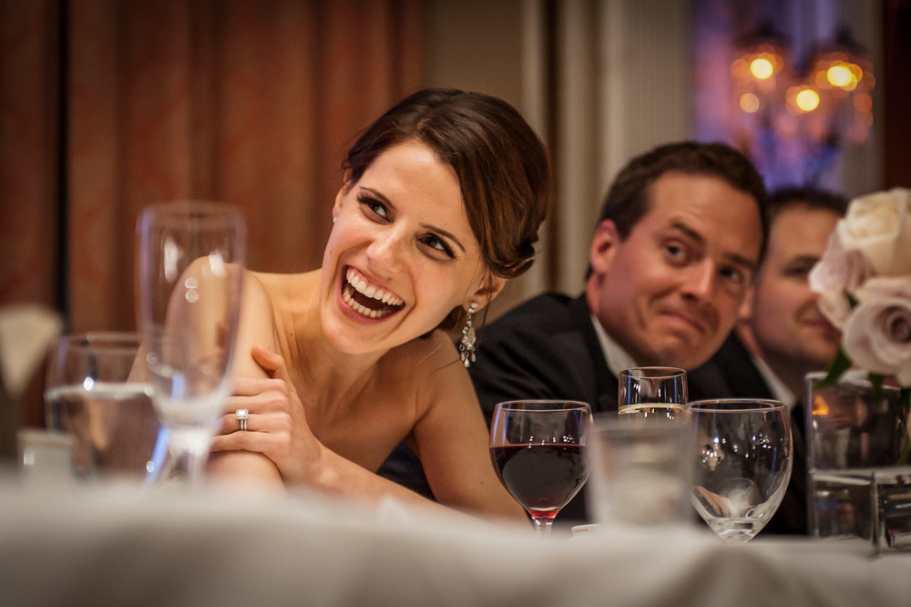 bride reaction to speech chateau laurier wedding ottawa