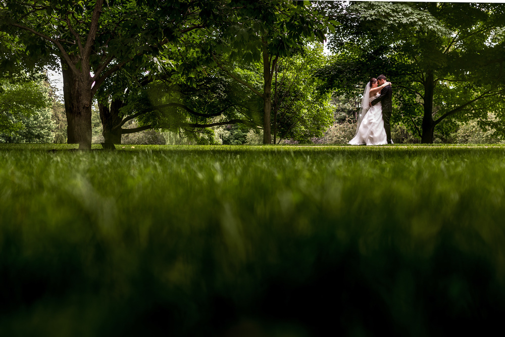 bride groom portrait in park ottawa summer wedding