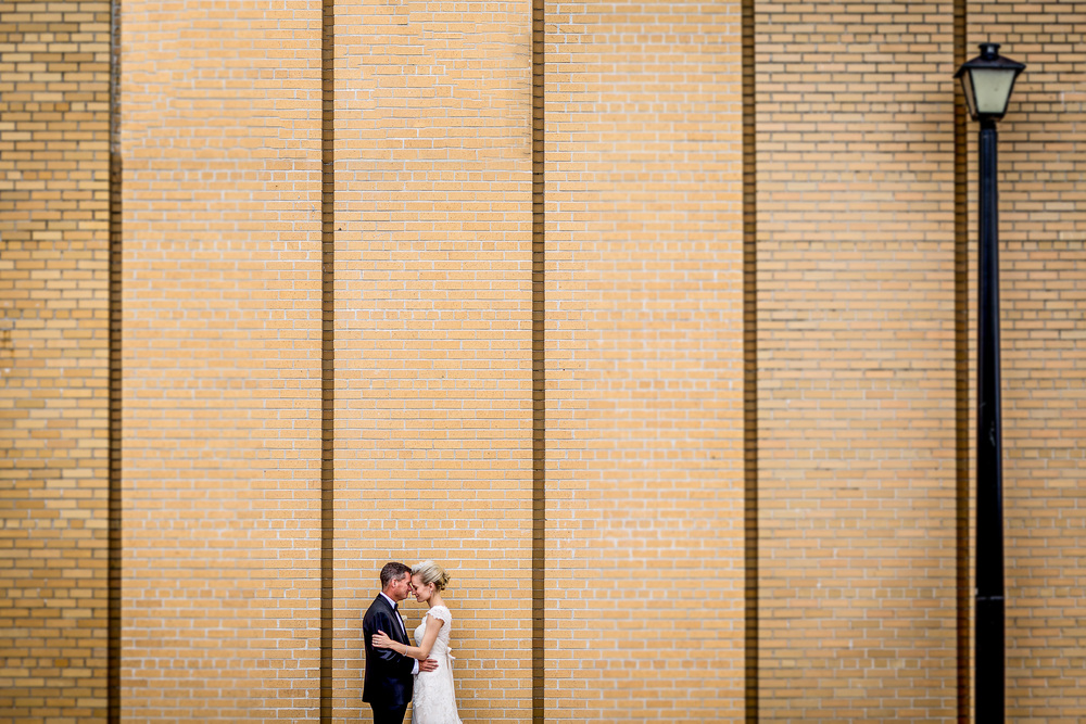 bride and groom portrait outside gezellig wedding ottawa