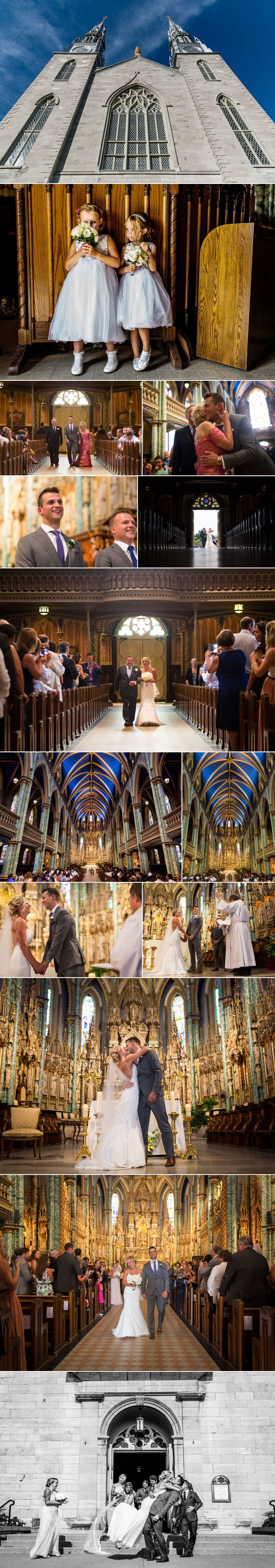 Notre Dame Basilica wedding ceremony photographs