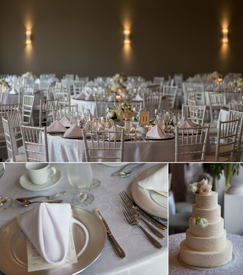 Wedding decorations at Le Belvedere.