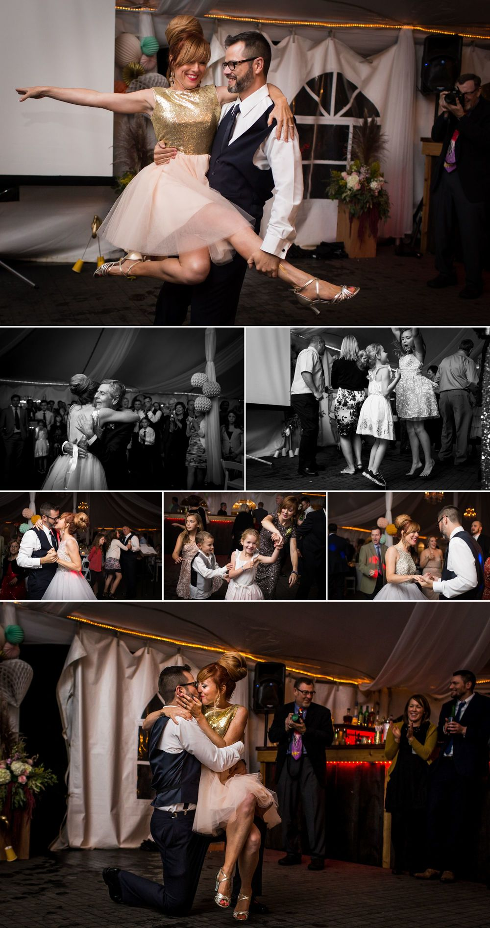 Wedding dancing photos at Stonefields Heritage Farm