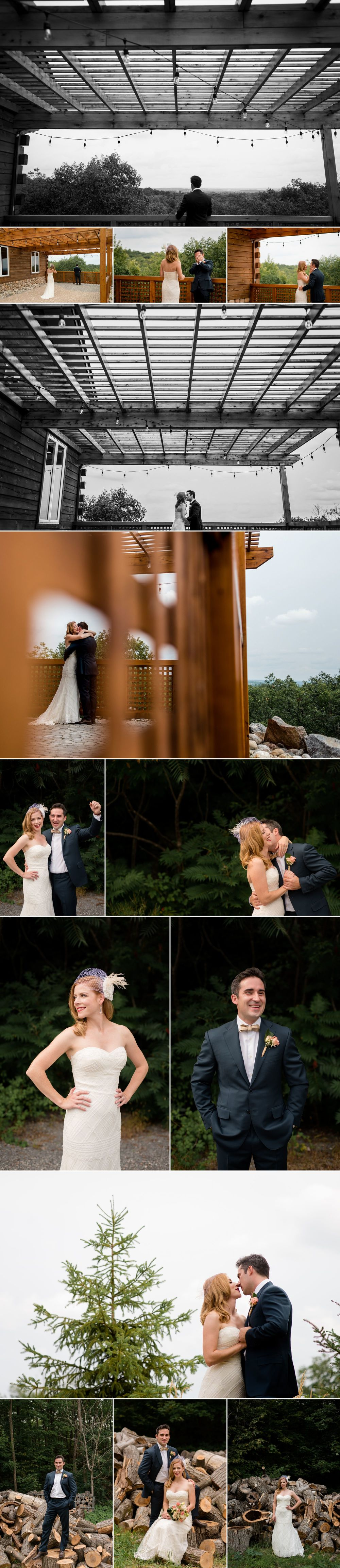 Outdoor wedding photographs