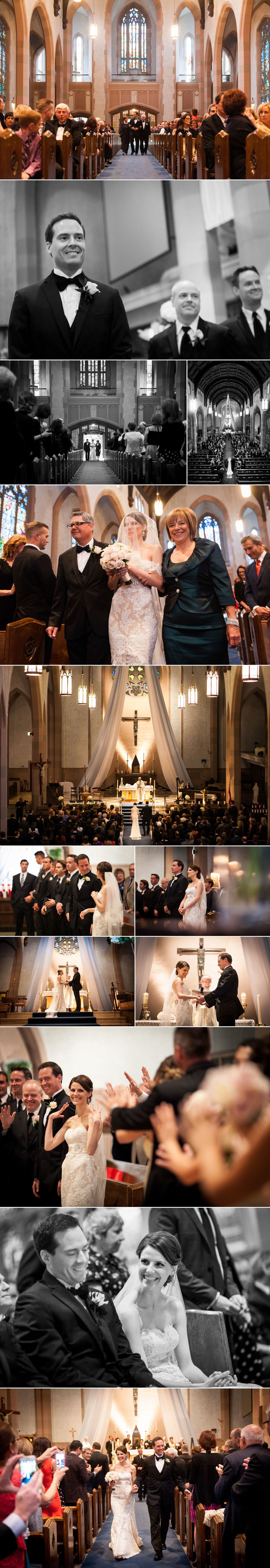 Wedding ceremony at Blessed Sacrament Church
