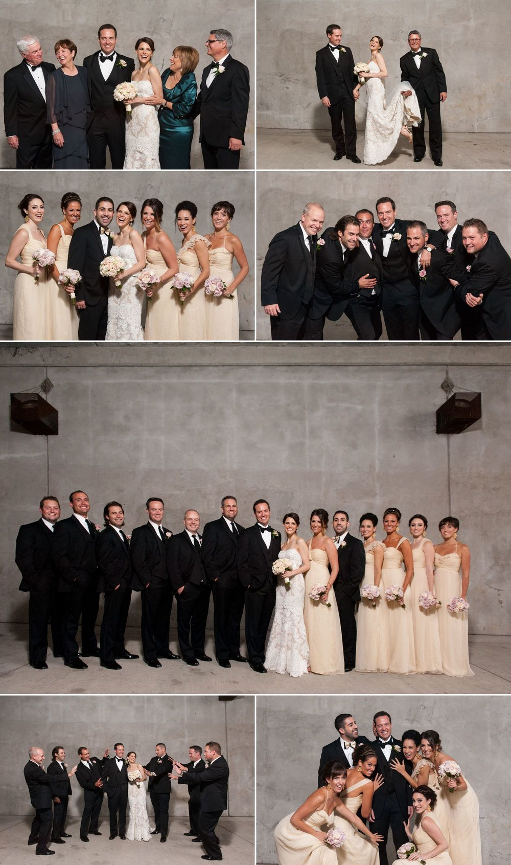 Wedding party photographs in downtown ottawa.