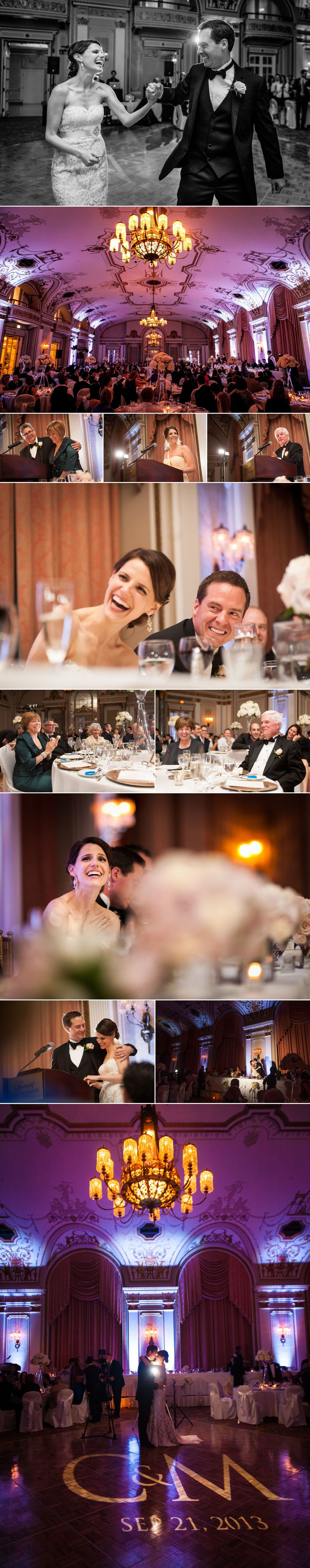 Wedding reception photos at le chateau laurier
