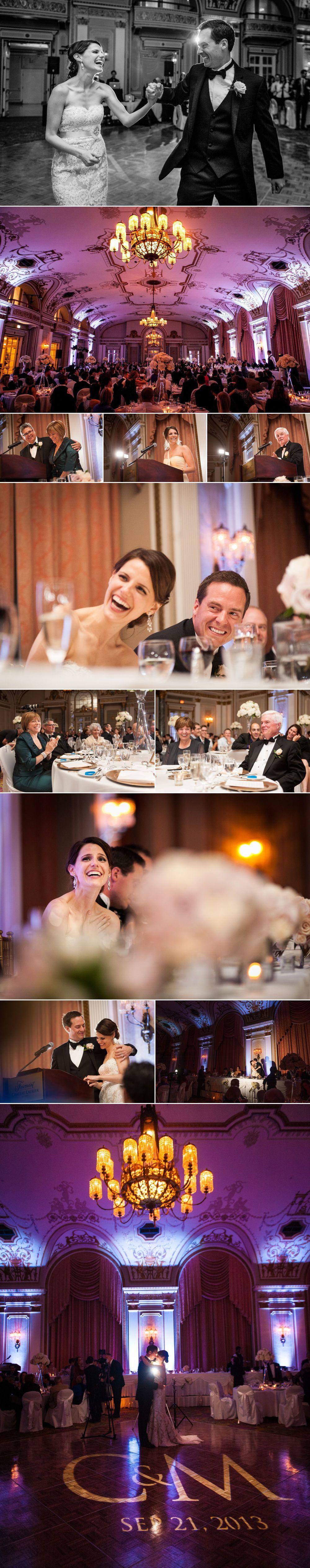 Wedding reception photos at le chateau laurier