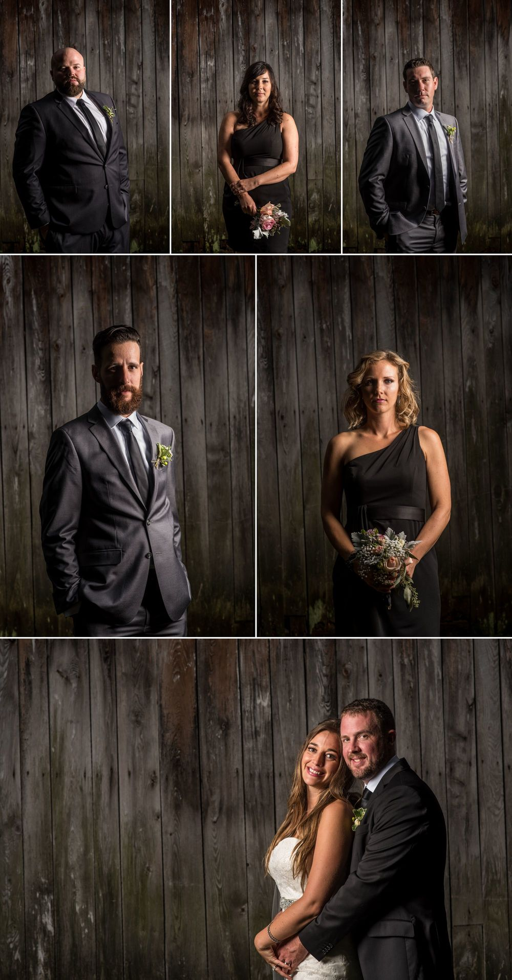 Wedding party photographs at Mont Tremblant