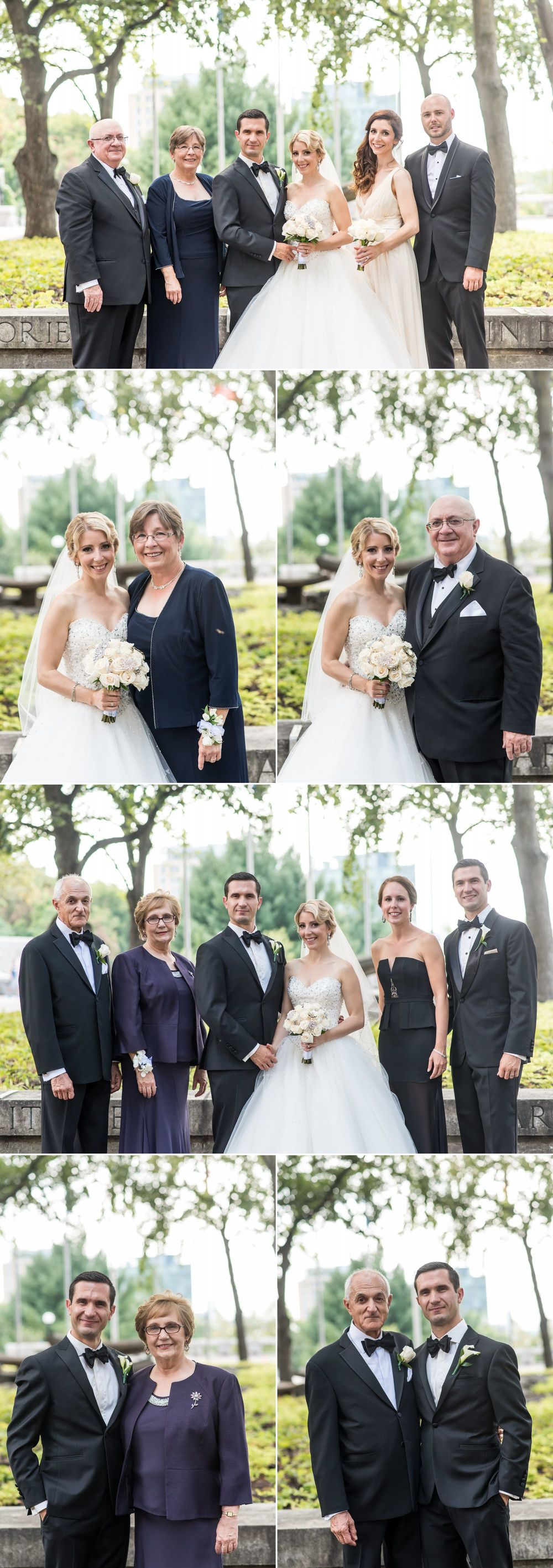 Family formal wedding photographs