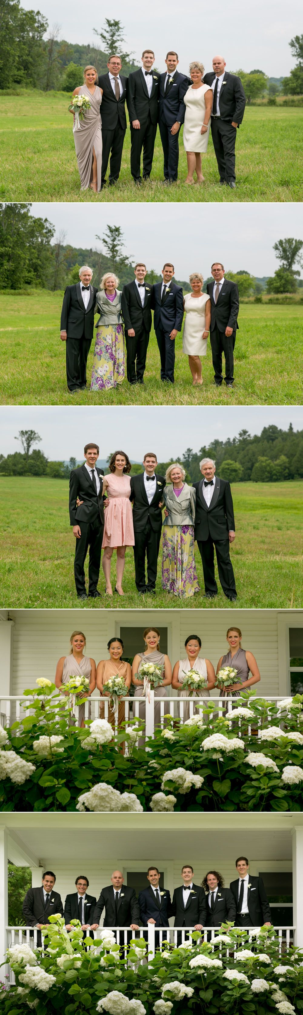 Wedding party photographs at a same sex wedding in Ottawa
