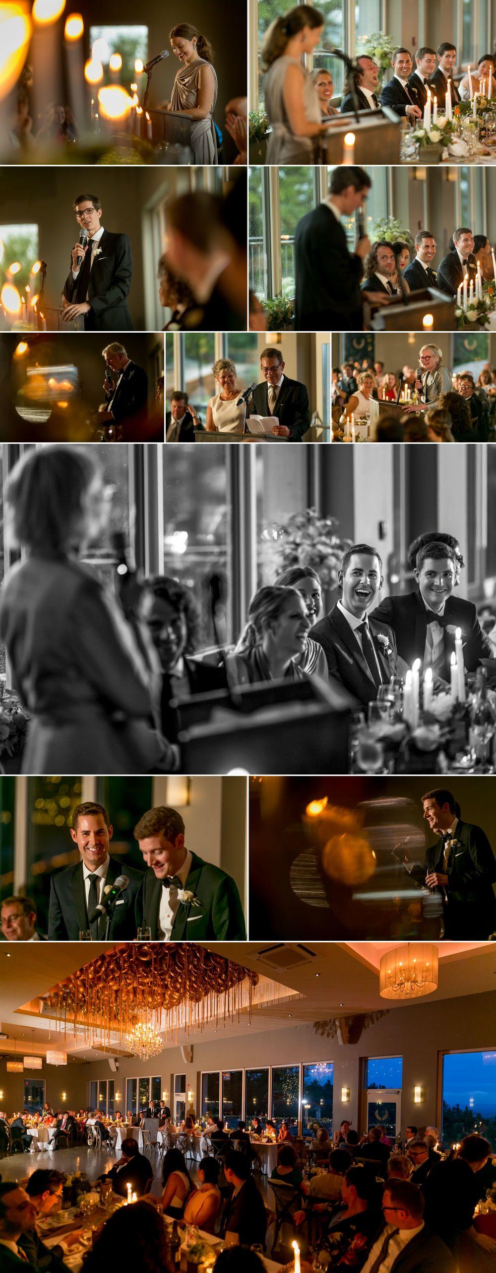 Same sex wedding reception at Le Belvedere