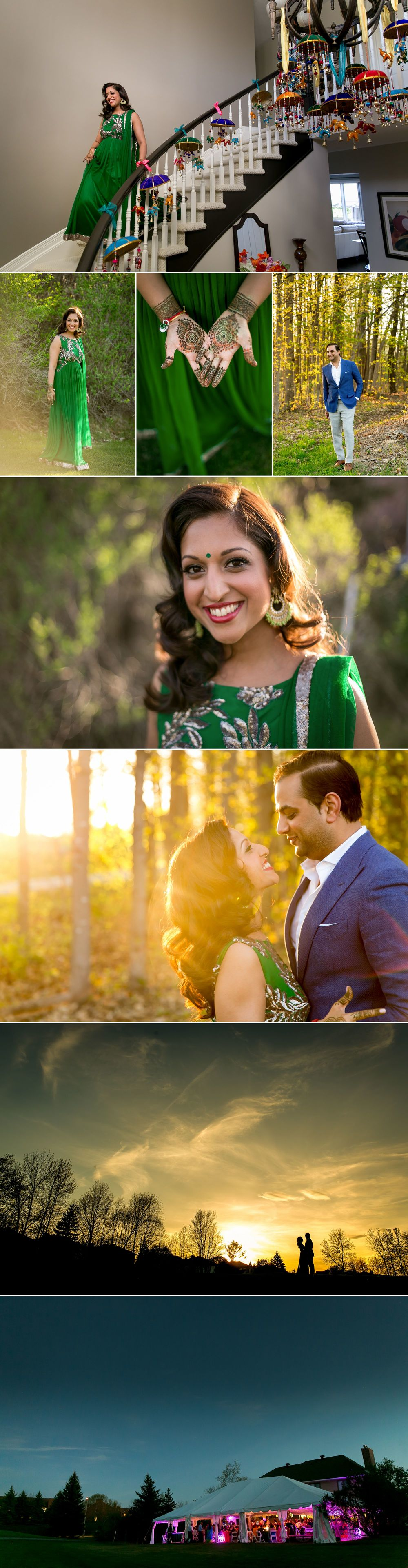 Indian bride and groom photographs in Ottawa