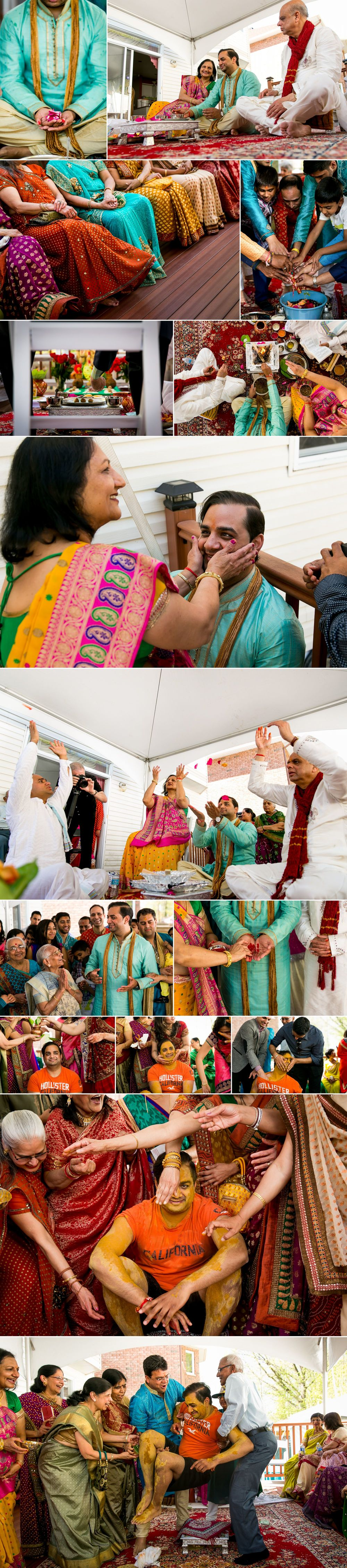 Groom's side Hindu wedding ceremony