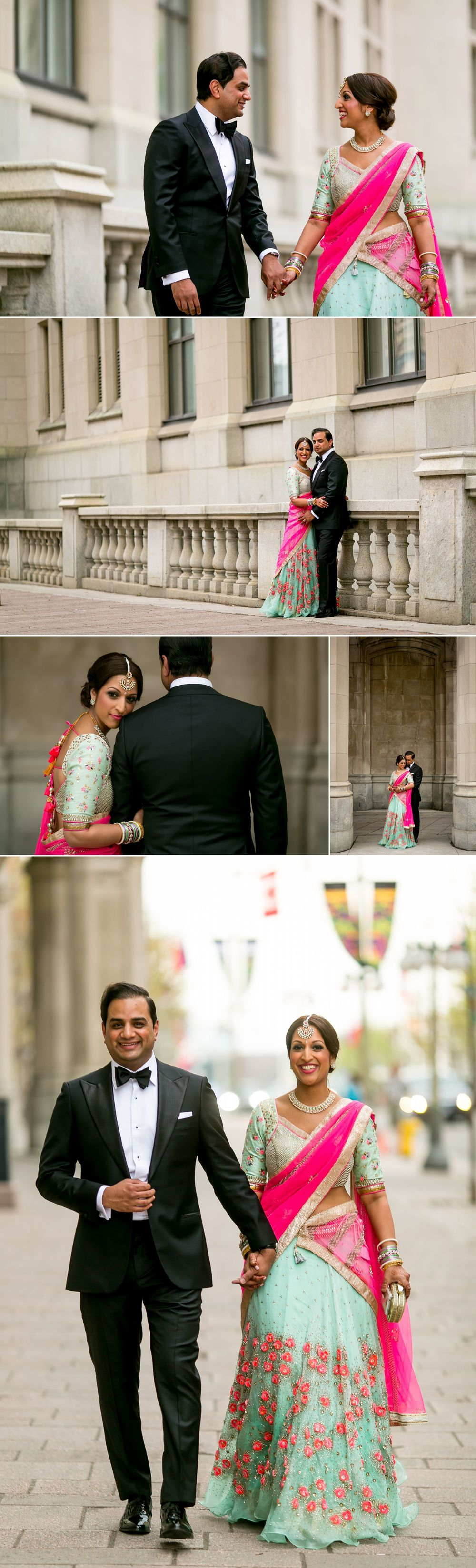 Wedding photographs of an Indian couple in Ottawa