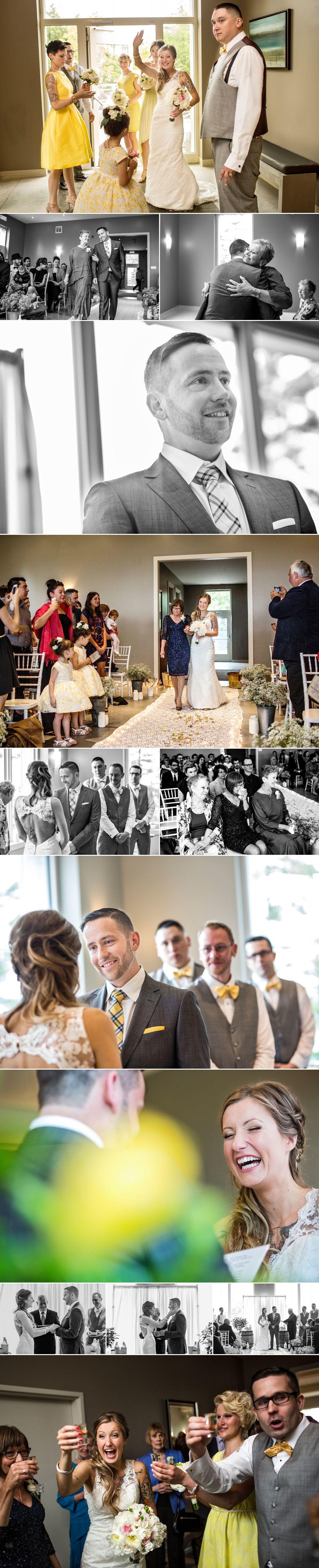 Wedding ceremony inside at le belvedere