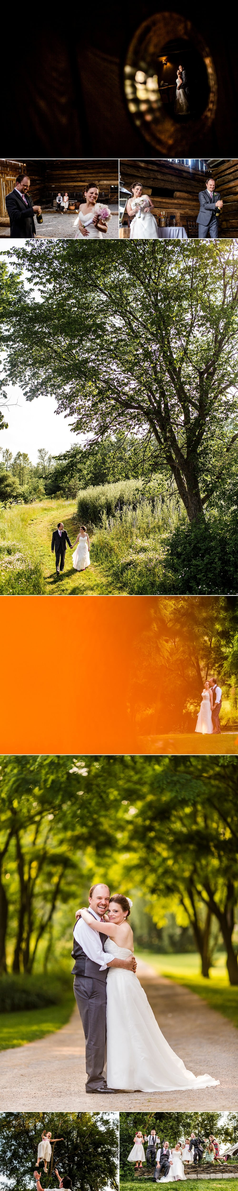 Wedding portraits at Stonefields Heritage Farm