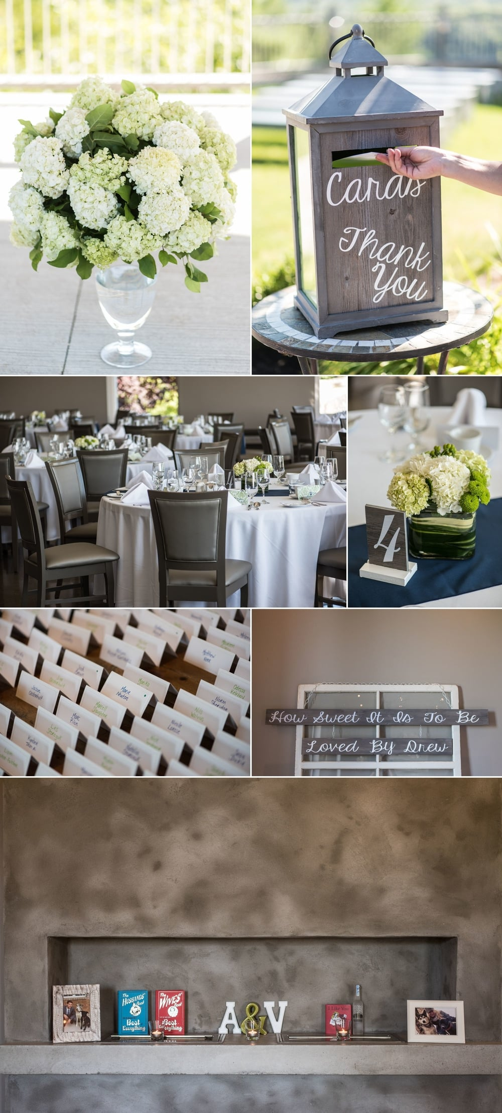 Wedding decor and details at Le Belvedere