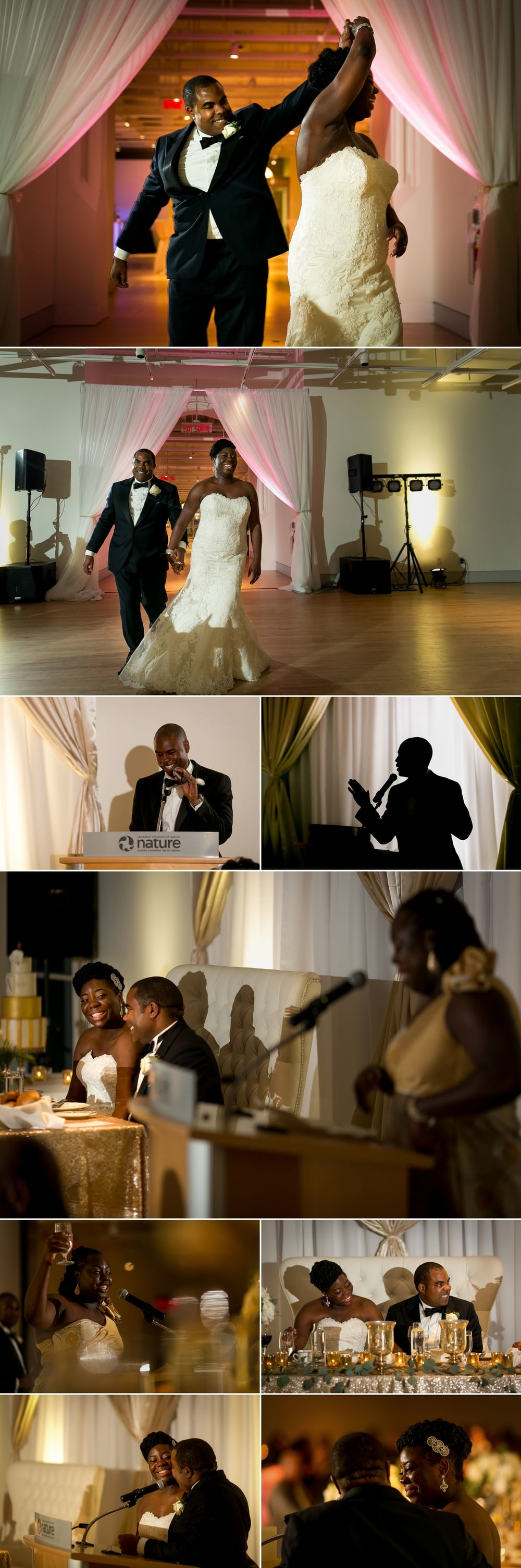 Grand entrance and speech photographs