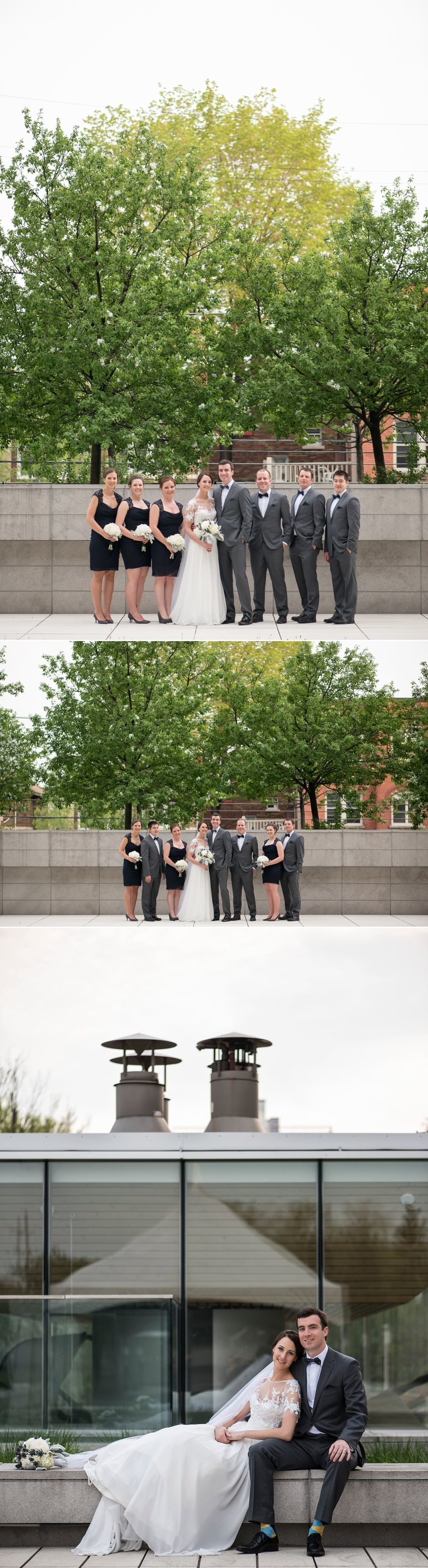 Wedding photos outside of the museum of nature in ottawa