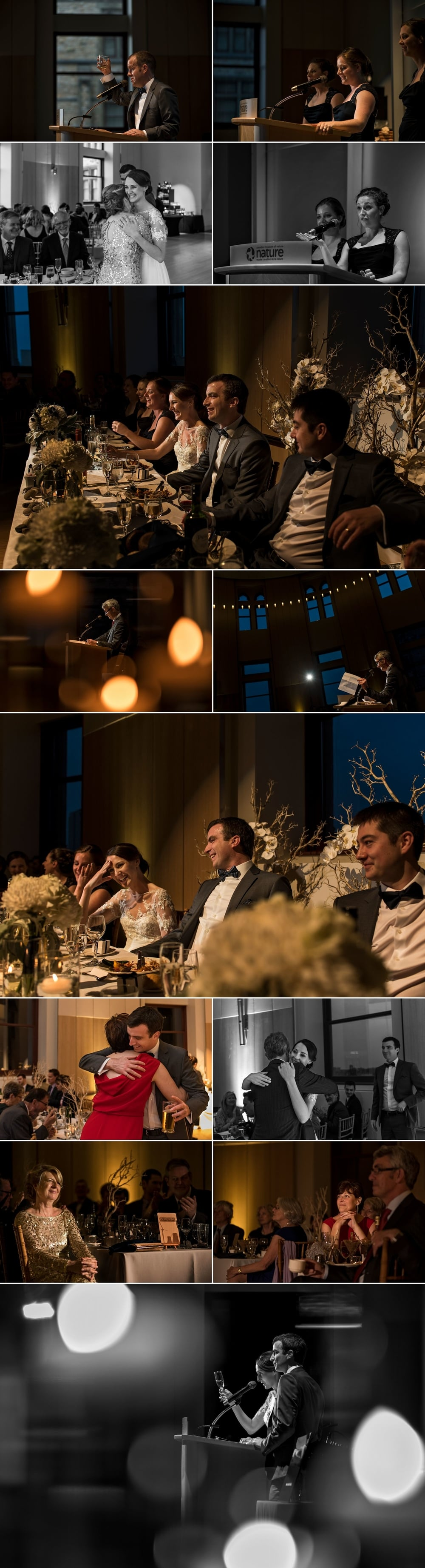 Wedding reception at the museum of nature