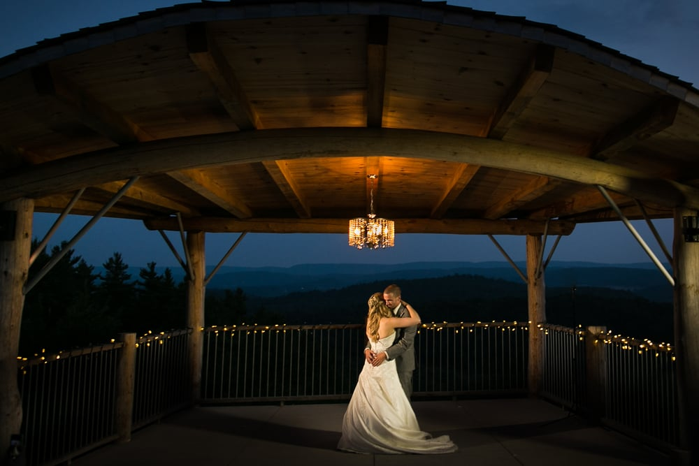first dance at dusk at le belvedere